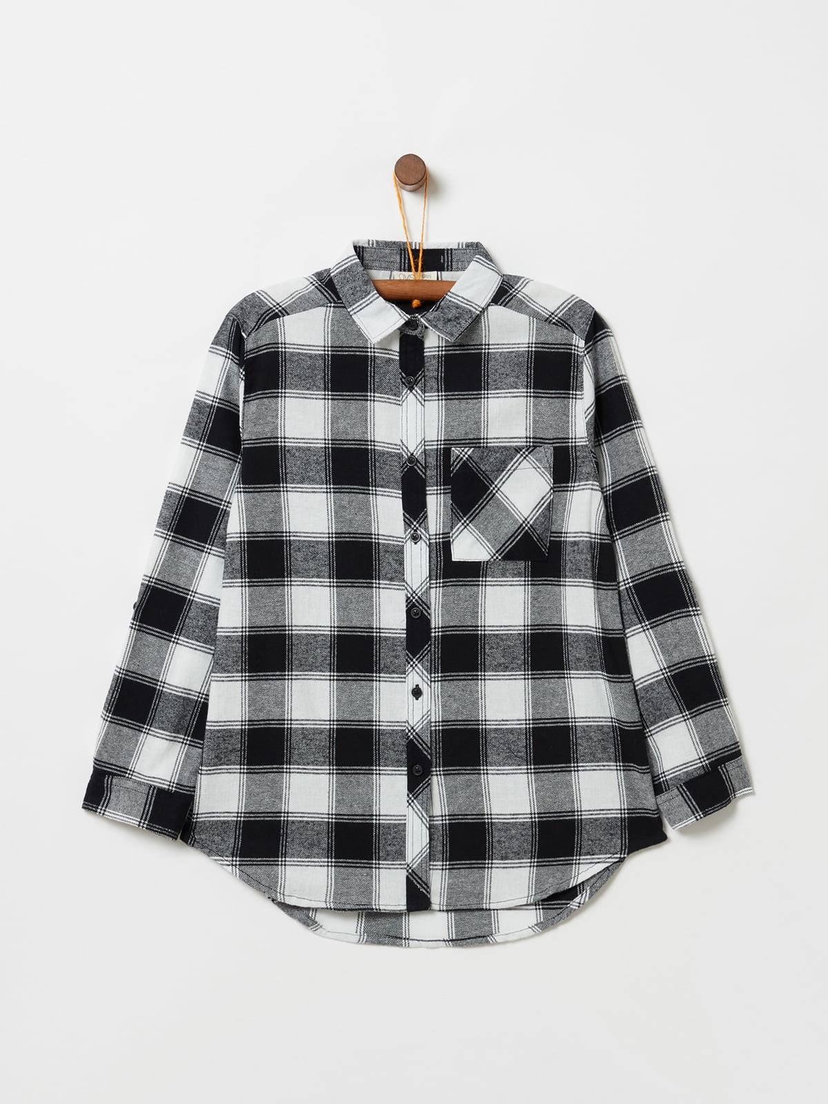 Рубашка черно-белая   5271619