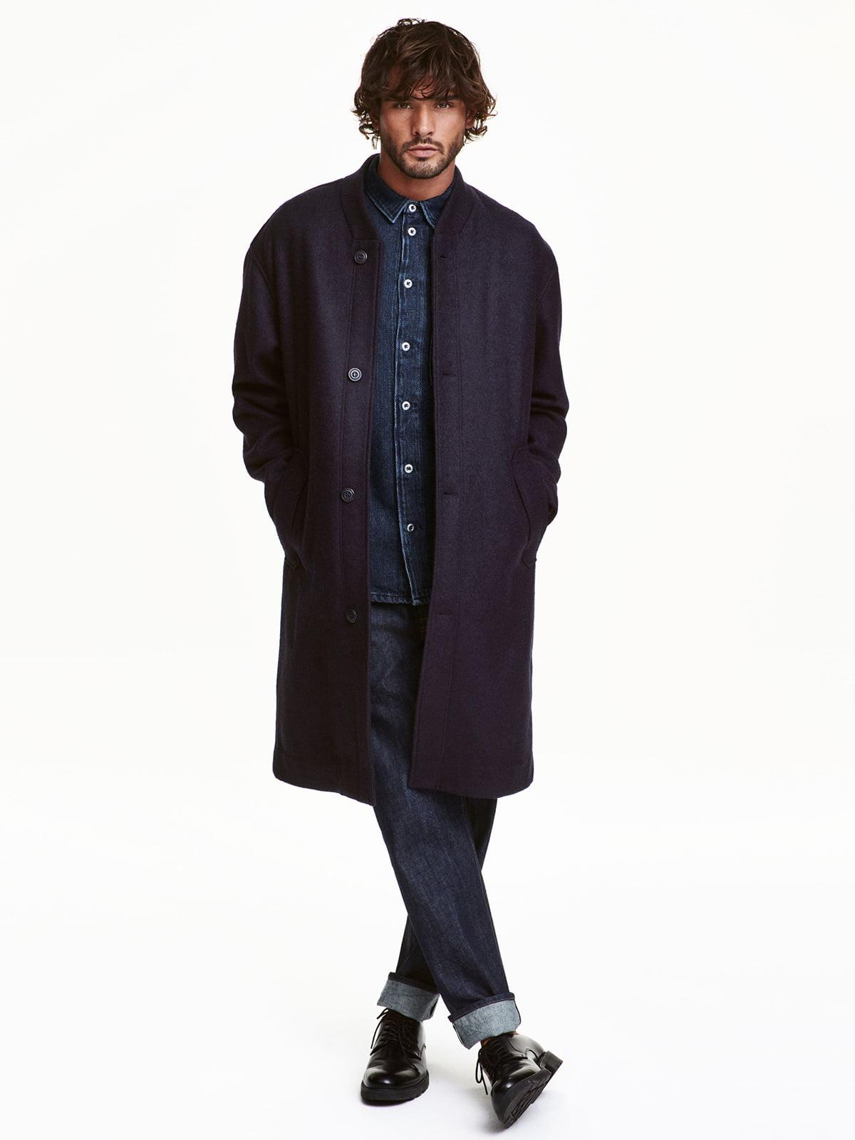 Пальто темно-синє | 5272730