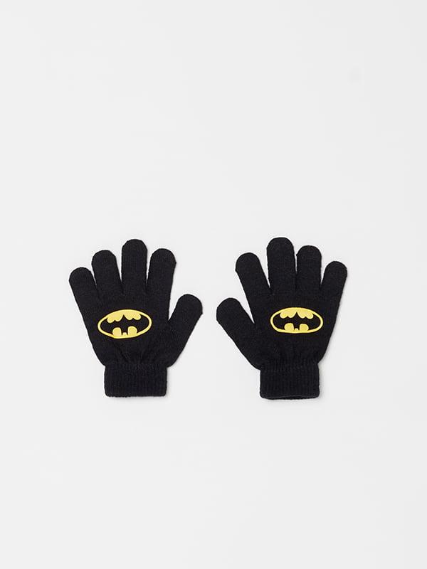 Перчатки черные с принтом | 5265157