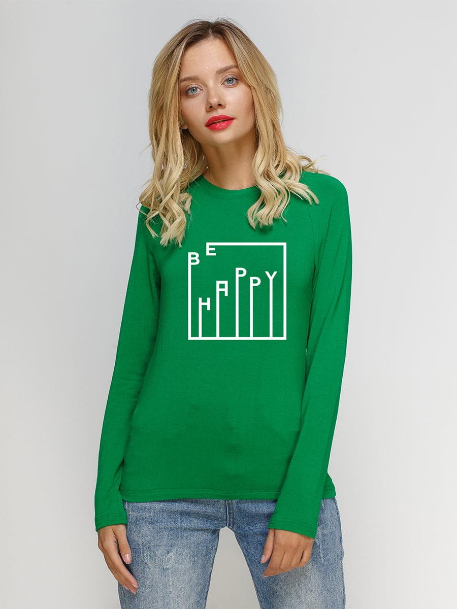 Реглан зелений з принтом   5274331