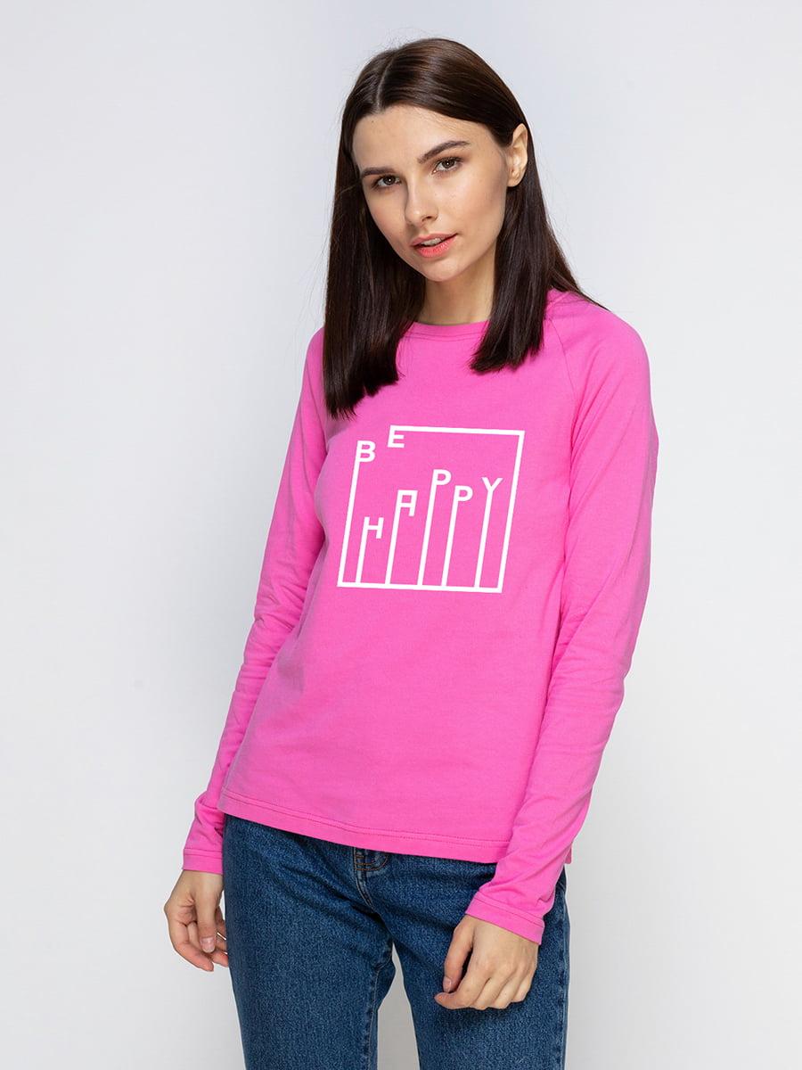Реглан розовый с принтом   5274371