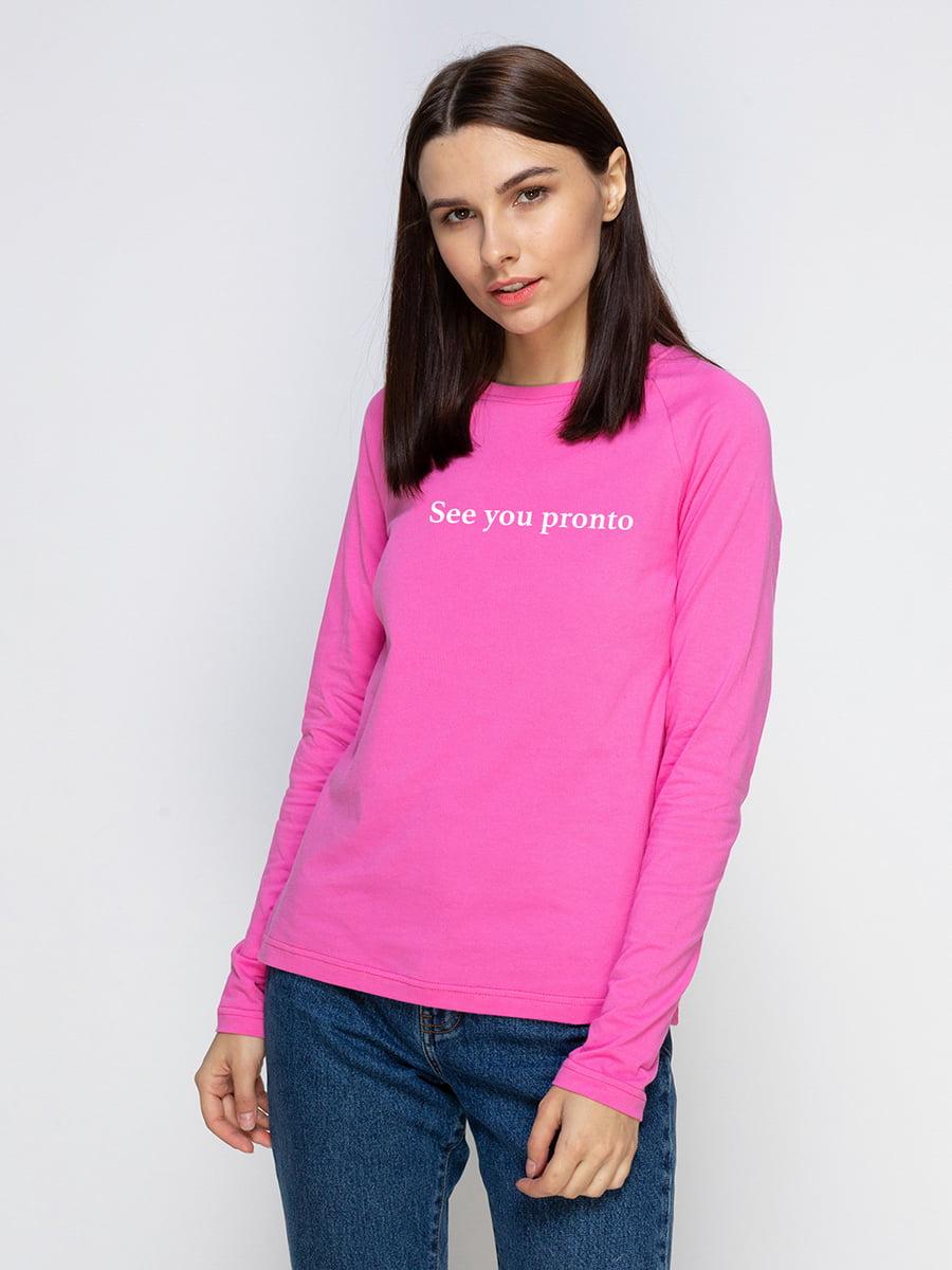 Реглан рожевий з принтом | 5274385