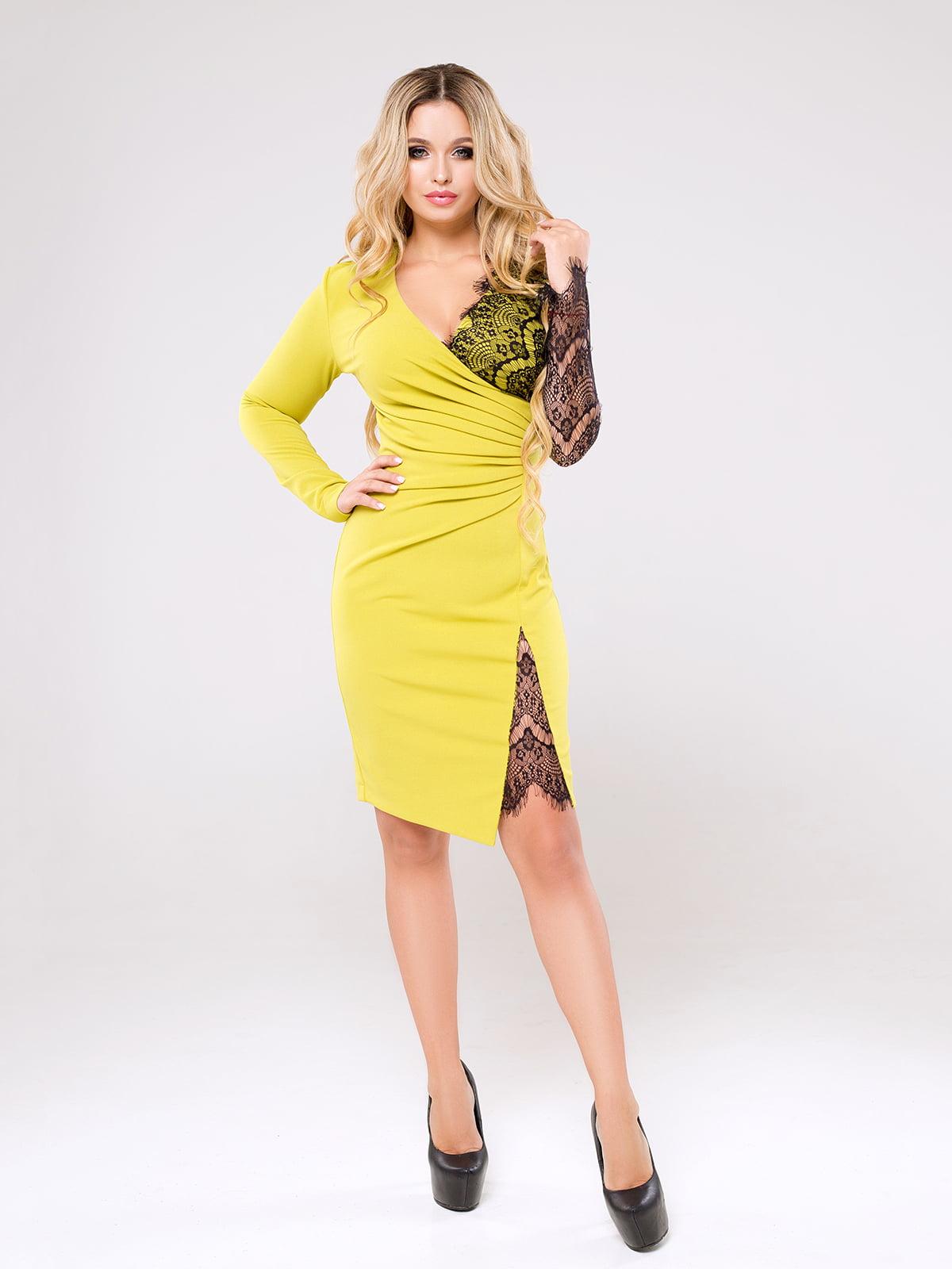 Платье желтое   5276940