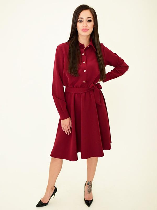 Платье бордовое | 5276013
