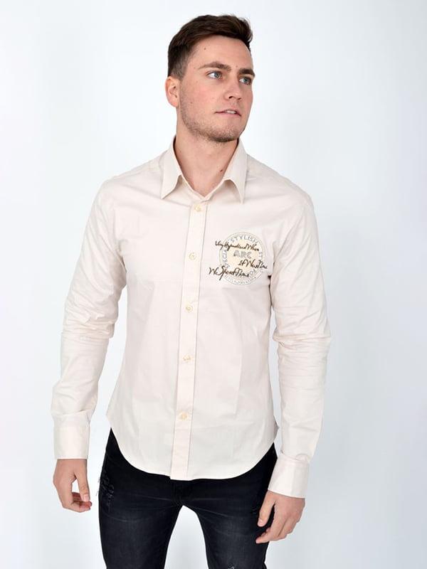 Рубашка бежевая | 5276151