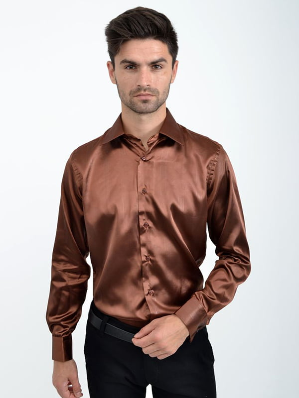 Рубашка коричневая | 5276203