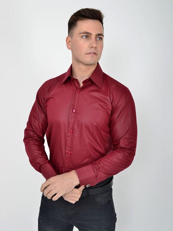 Рубашка бордовая | 5276215