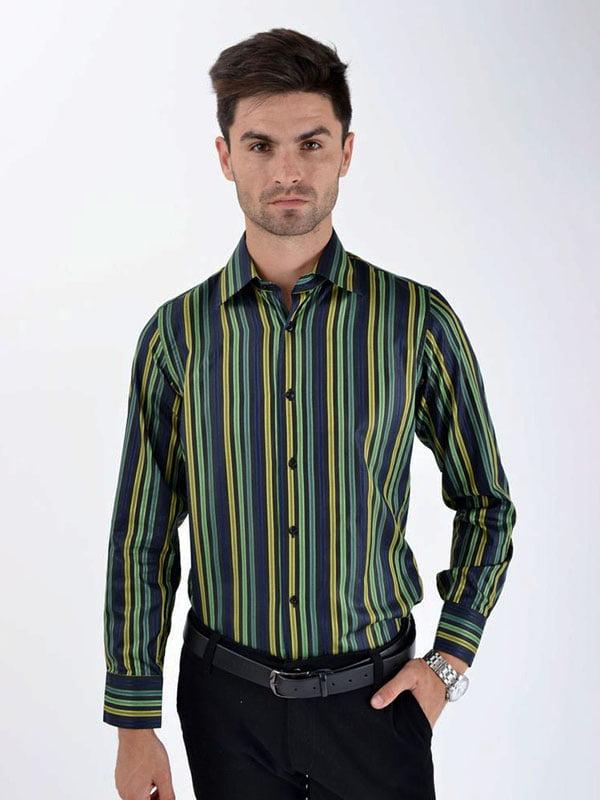 Рубашка салатовая в полоску   5276223
