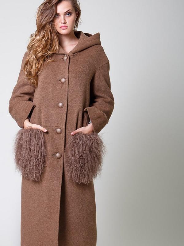 Пальто коричневое   4920765