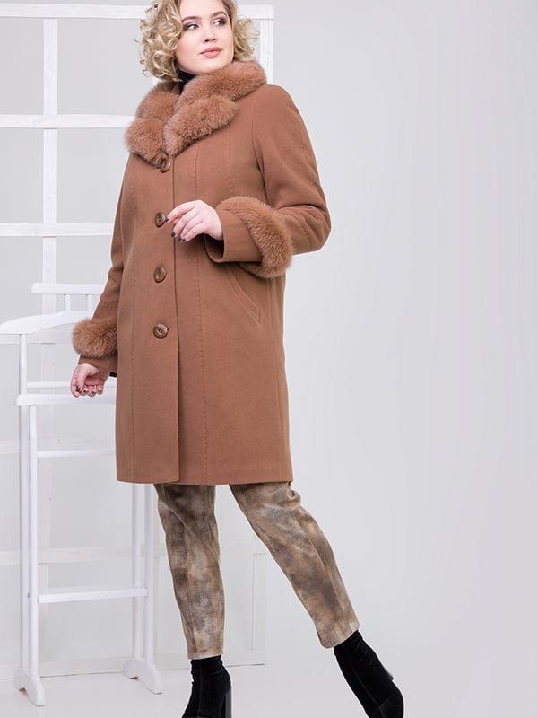 Пальто коричневое | 5278785