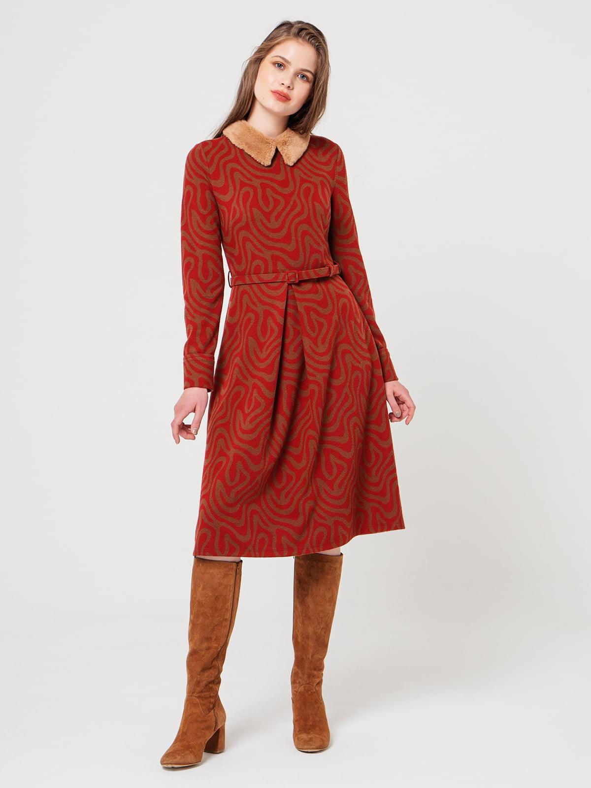 Платье двухцветное с рисунком | 5279300