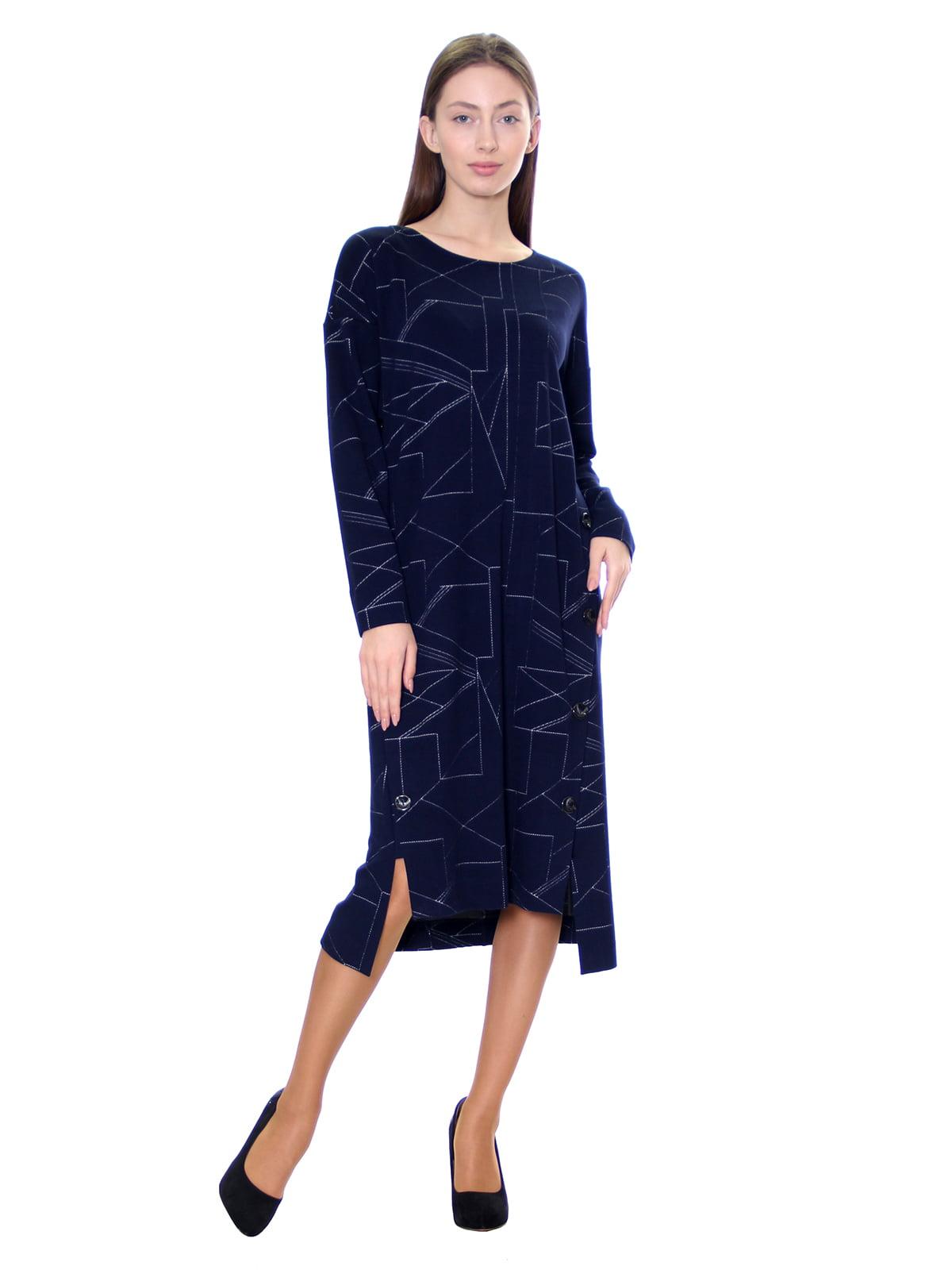 Платье синее в принт   5281529