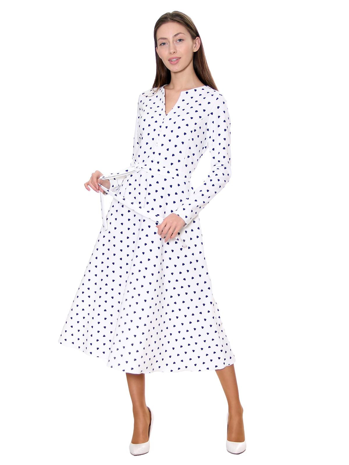 Платье белое в принт | 5281539
