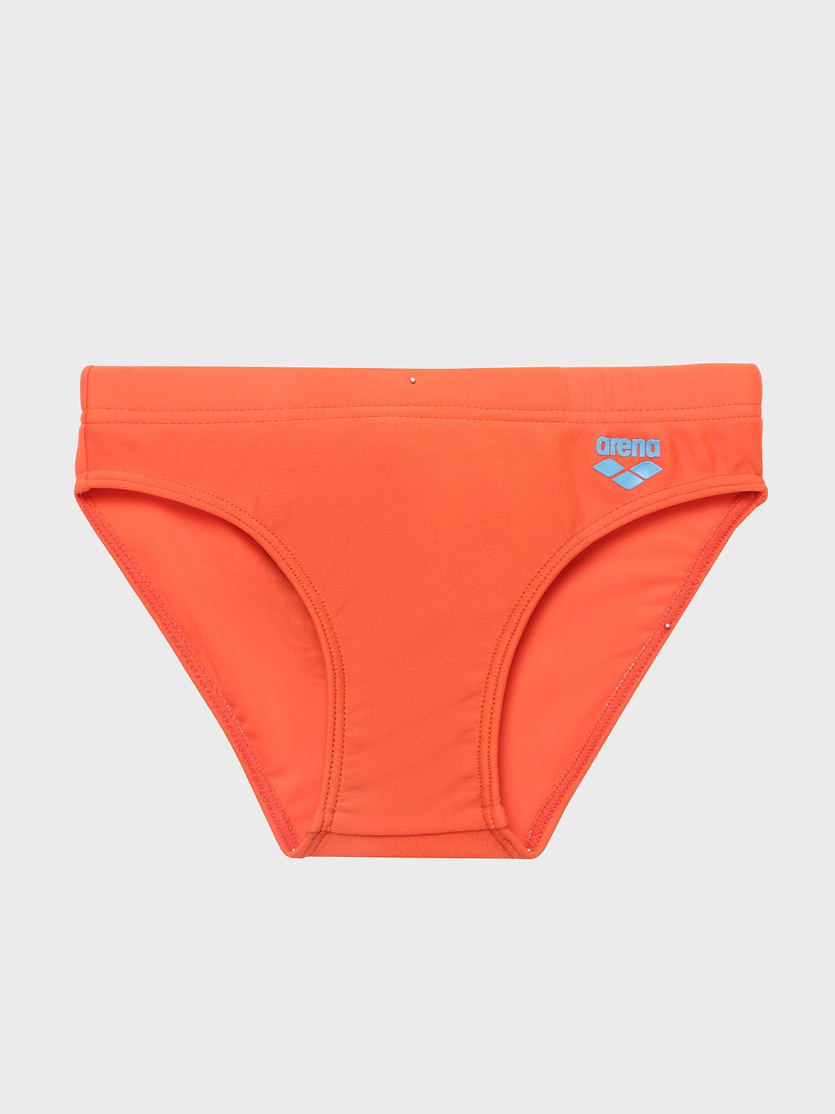 Плавки оранжевые с принтом | 5259471