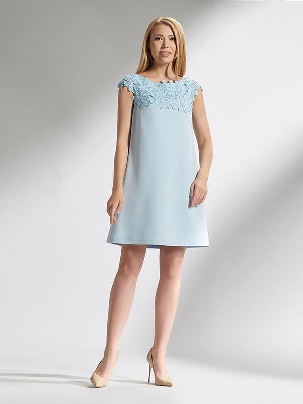 Сукня блакитна з аплікацією | 5115699
