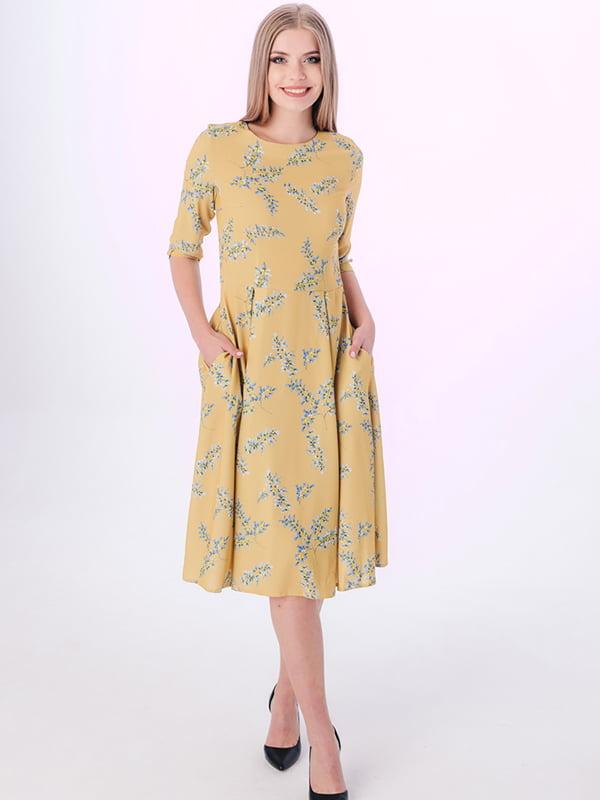 Платье желтое в принт | 5282580