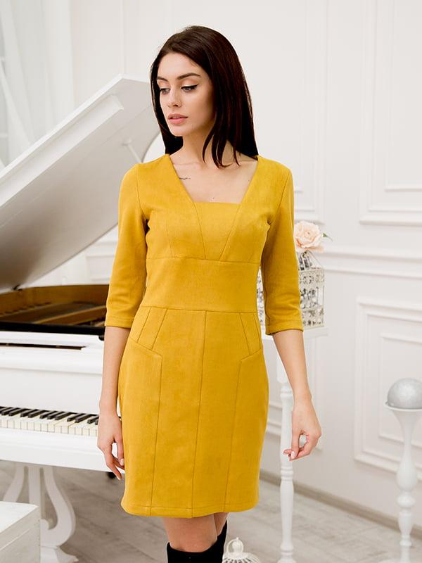 Платье горчичного цвета | 5282584