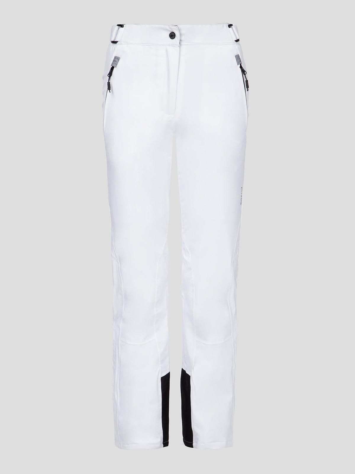 Брюки белые лыжные | 5259806