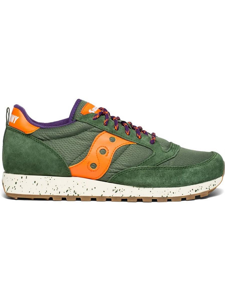 Кроссовки зелено-оранжевые   5260983