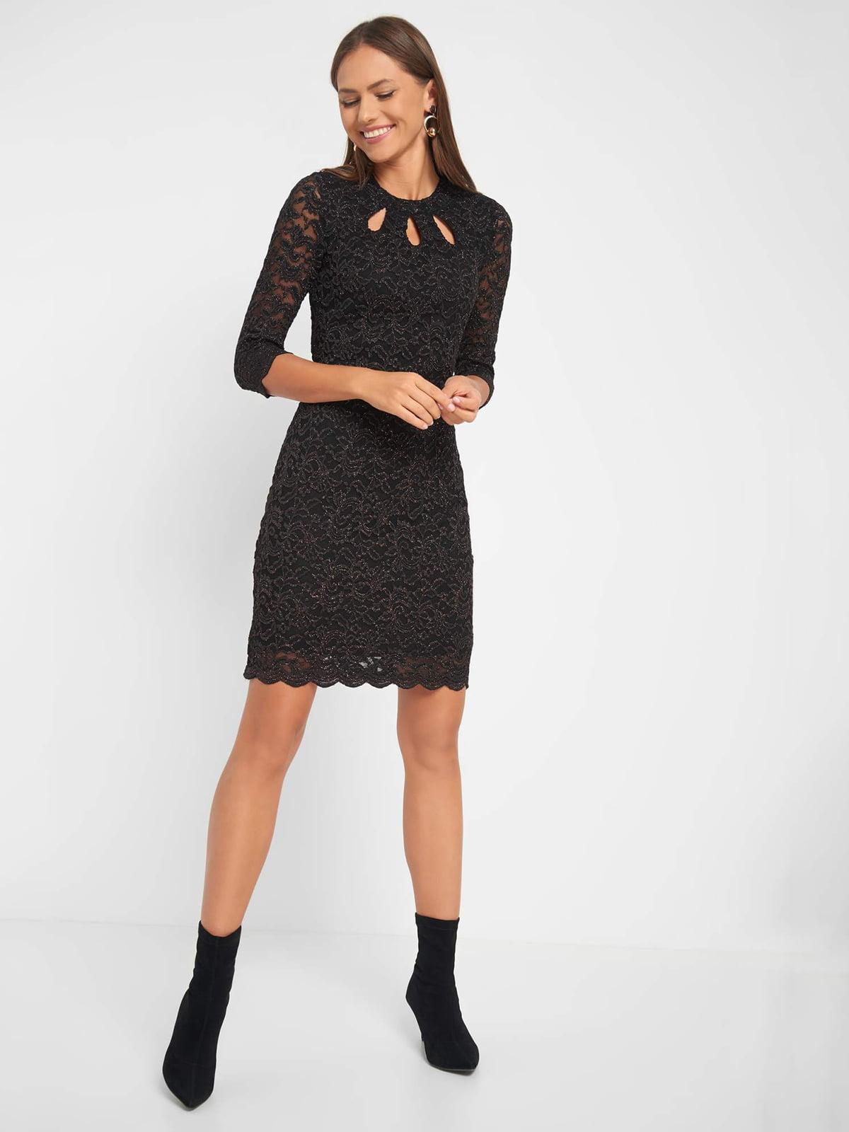 Сукня чорна з візерунком | 5282859