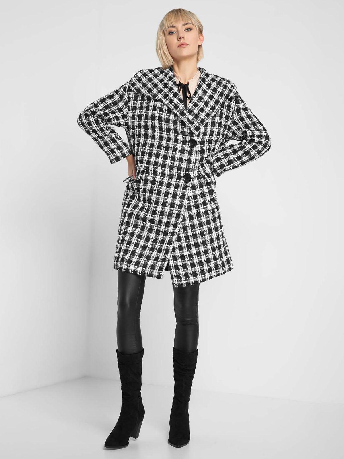 Пальто чорно-біле | 5282945