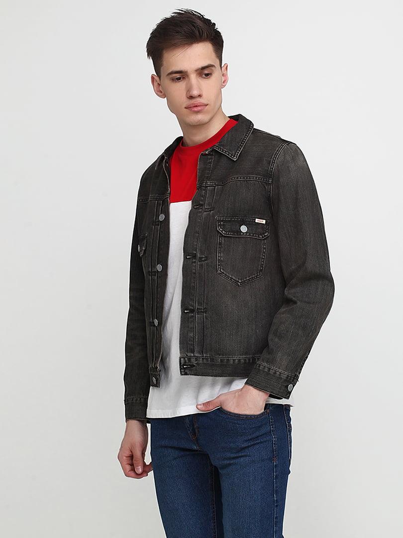Куртка серо-черная   5285025