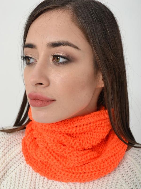 Шарф-хомут оранжевый | 5287947