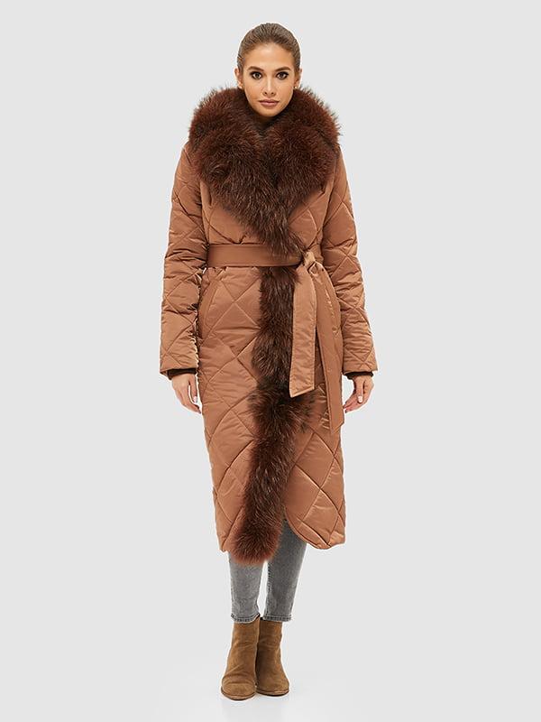 Пальто шоколадного кольору | 5289734