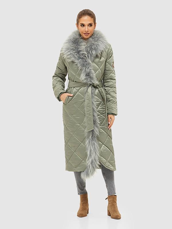 Пальто оливкового цвета | 5289738