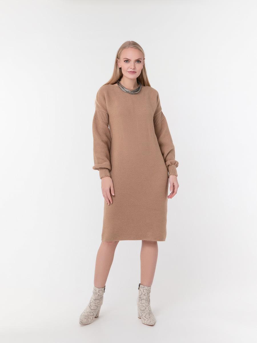 Сукня кольору кемел | 5291316