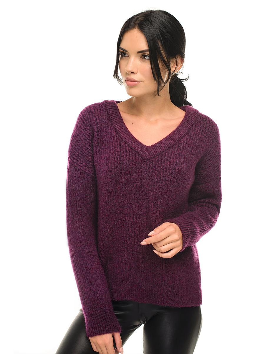 Пуловер вишневого цвета | 5292817