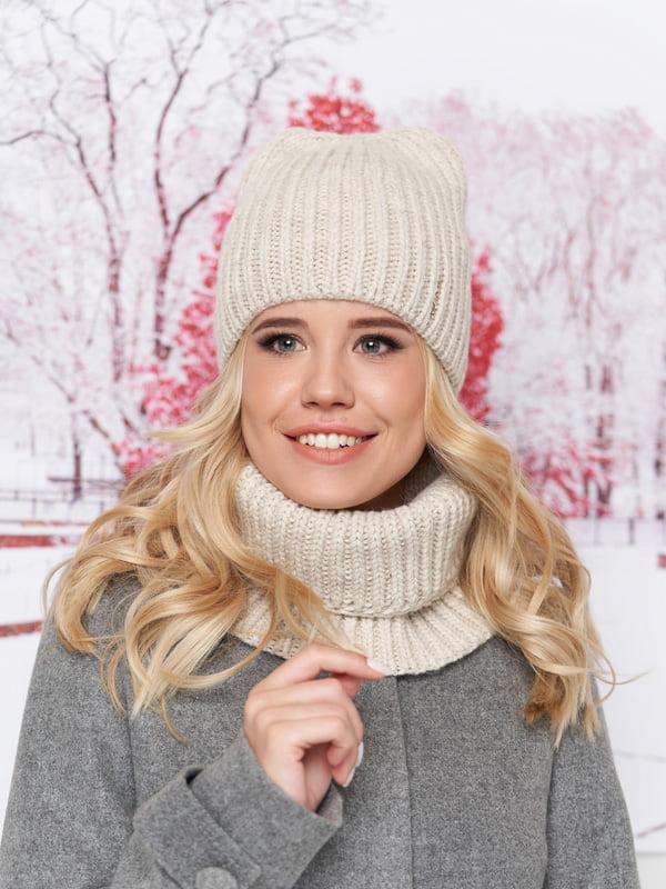 Комплект: шапка и шарф-хомут | 5294594