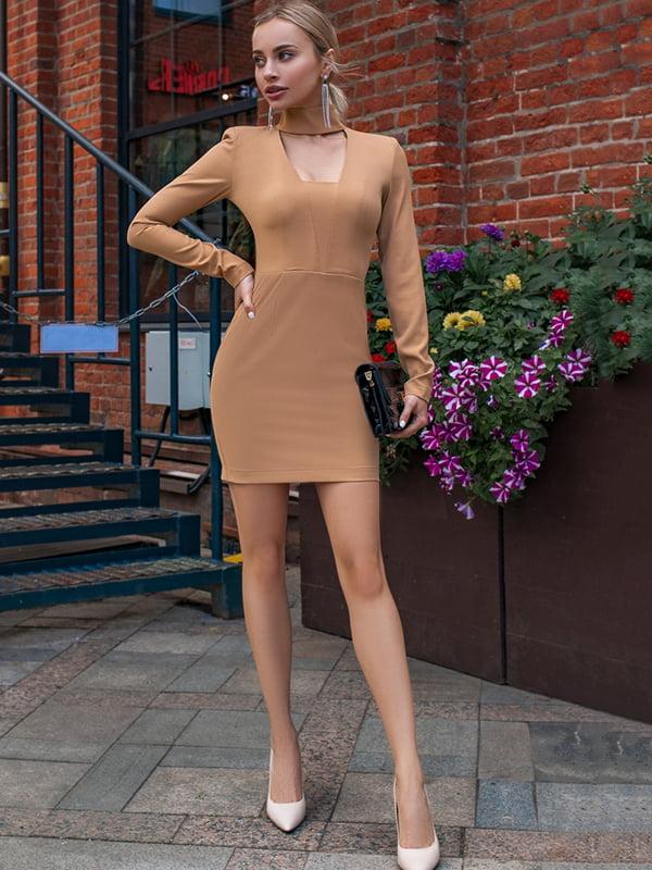 Платье бежевое   5246492