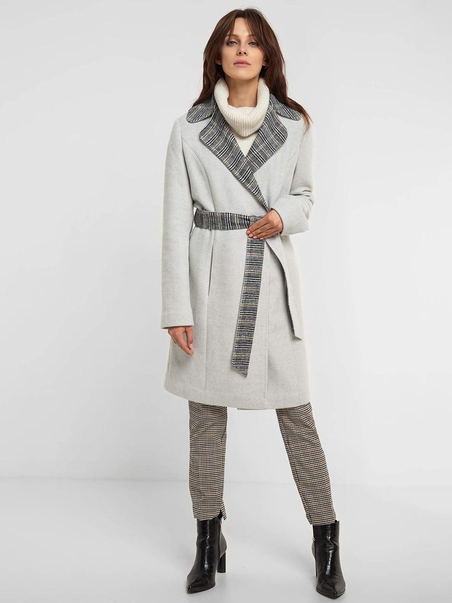 Пальто серое   5295289