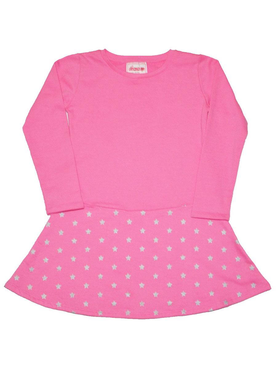 Платье розовое с принтом | 5295659