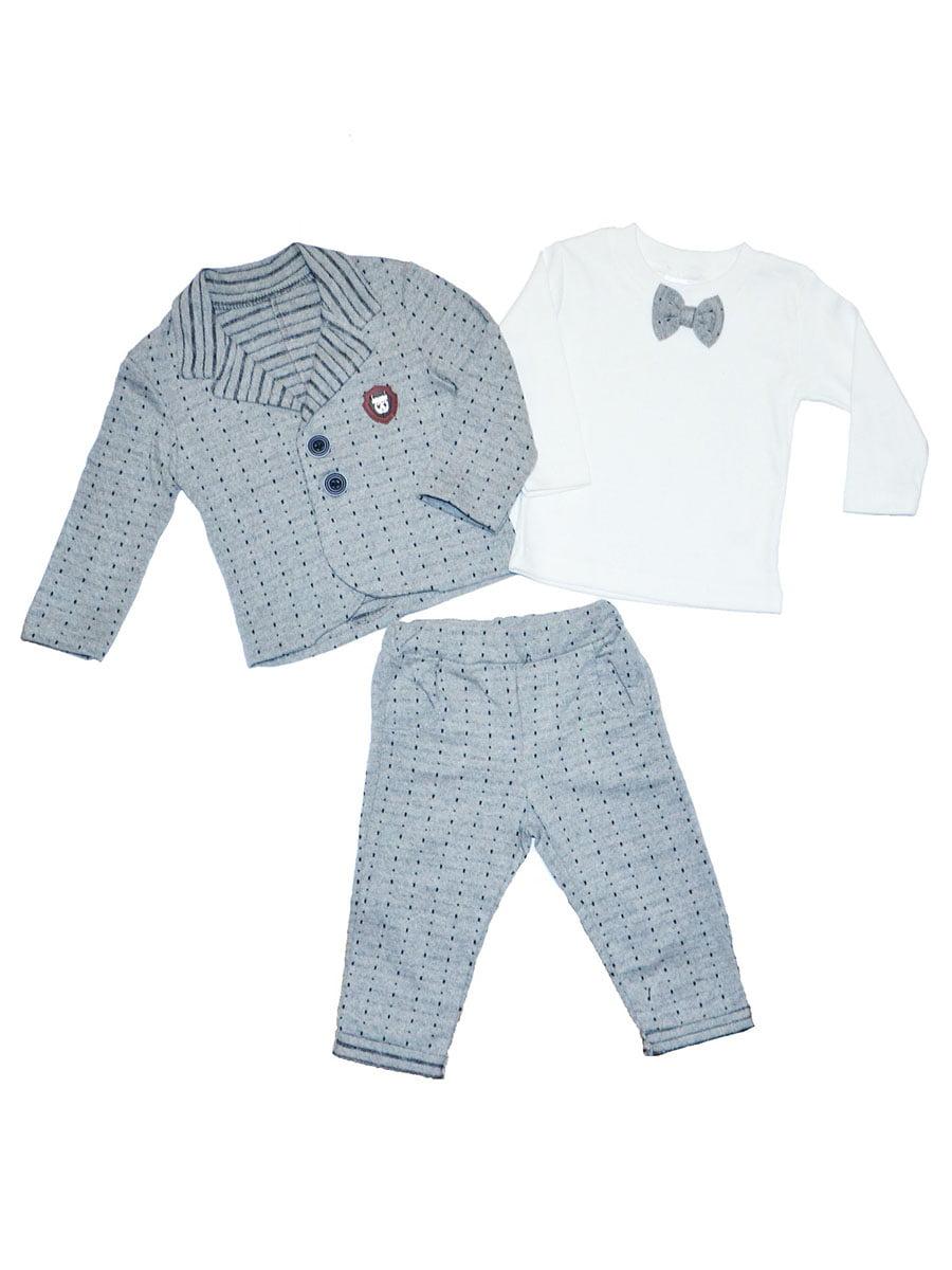 Комплект: штани, лонгслів і піджак | 5295694
