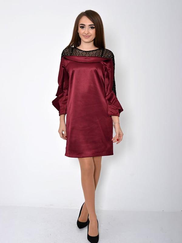 Платье бордовое | 5296012