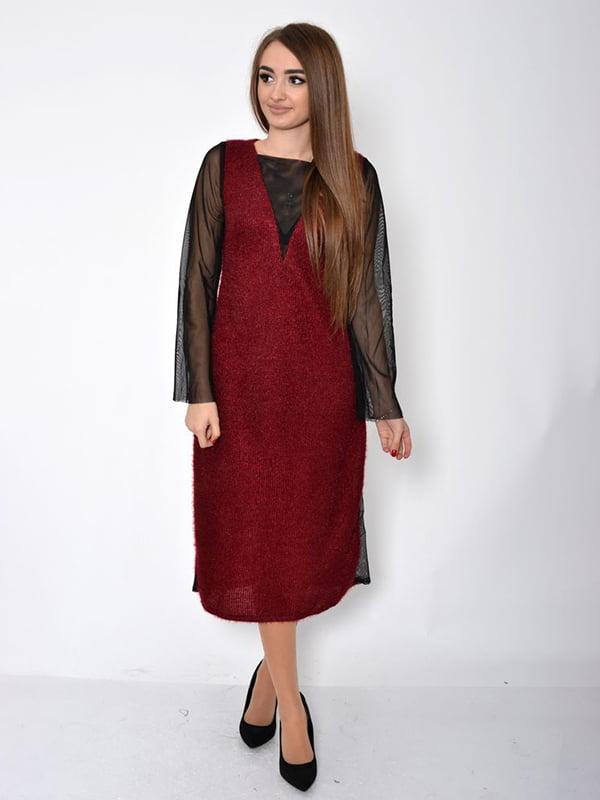 Платье бордовое | 5296030