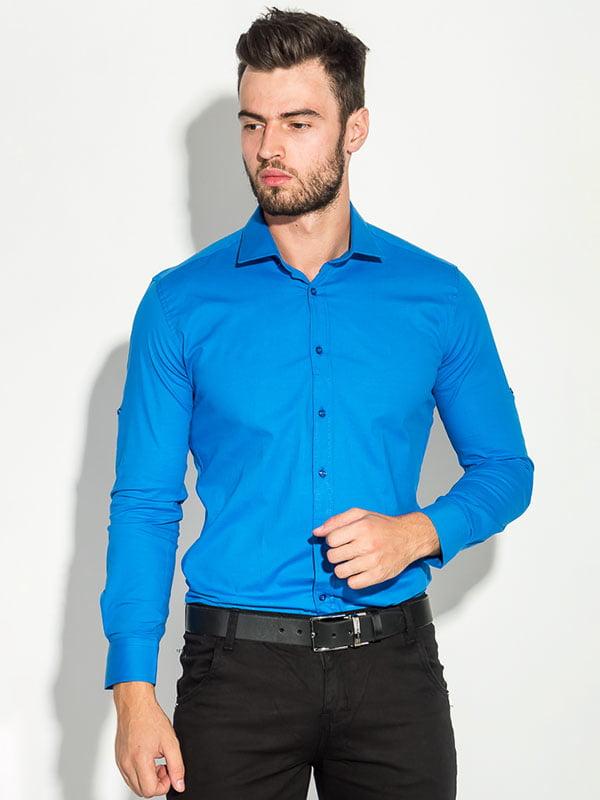 Рубашка василькового цвета | 5287765