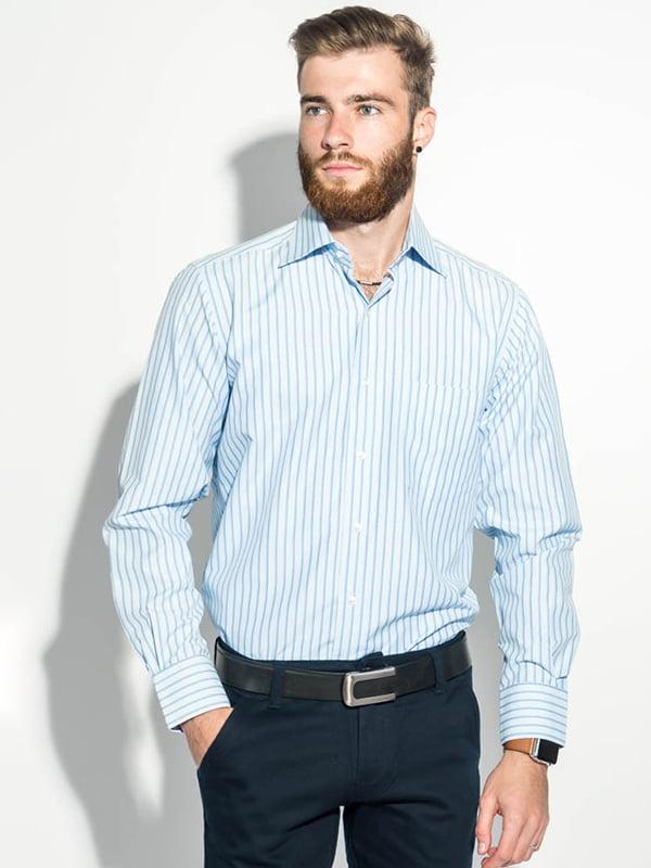 Рубашка бело-голубая | 5287809