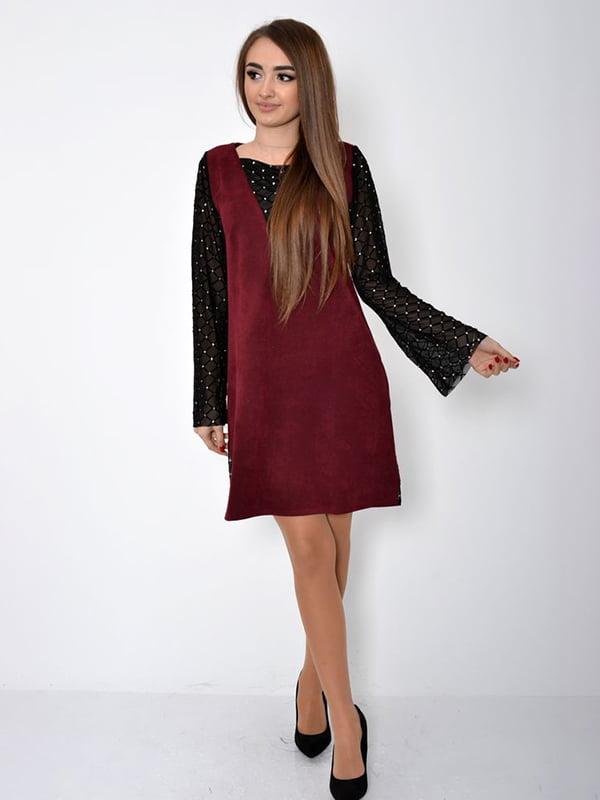 Платье бордовое | 5299205