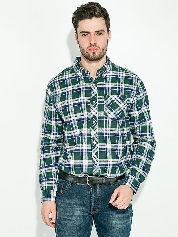 Рубашка сине-зеленая | 5299287