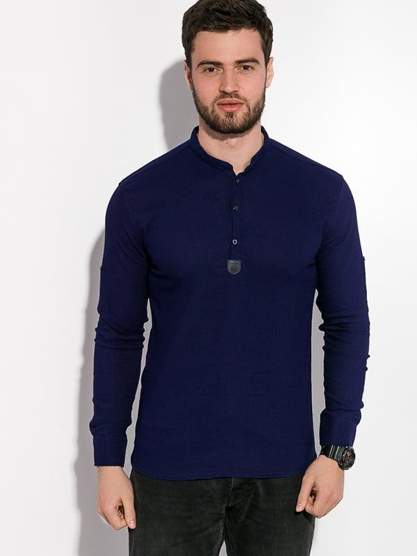 Рубашка темно-синяя | 5299321