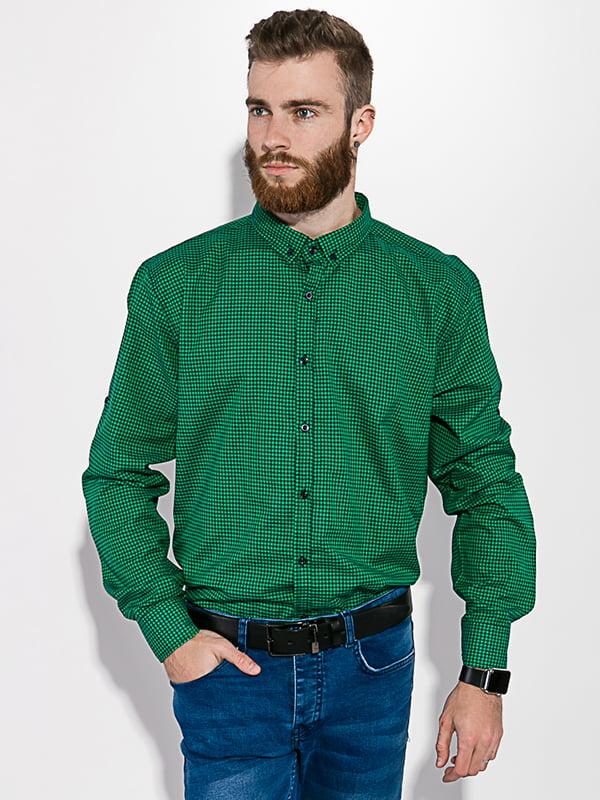 Рубашка черно-зеленая | 5299330
