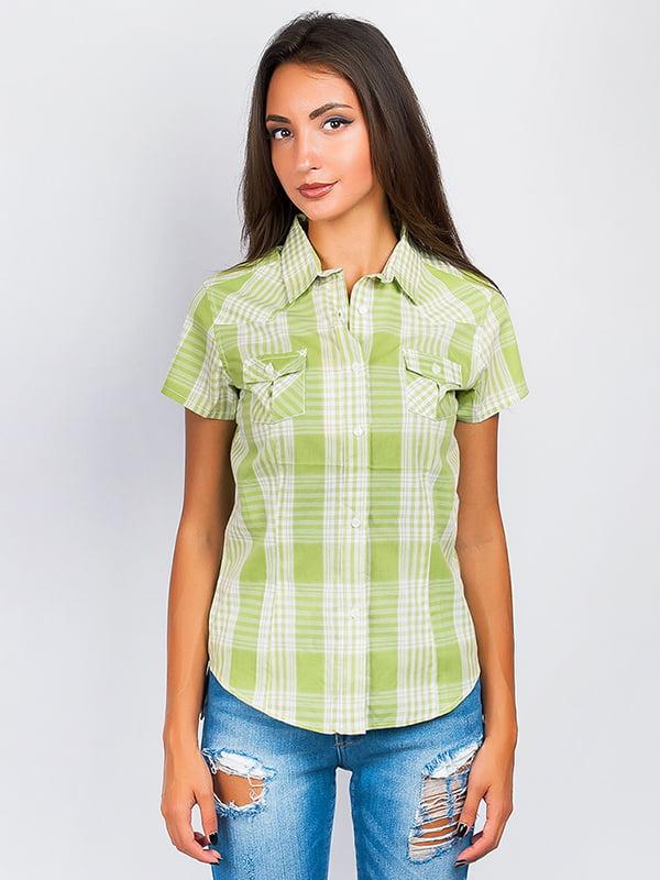 Рубашка молочно-оливкового цвета | 5299376