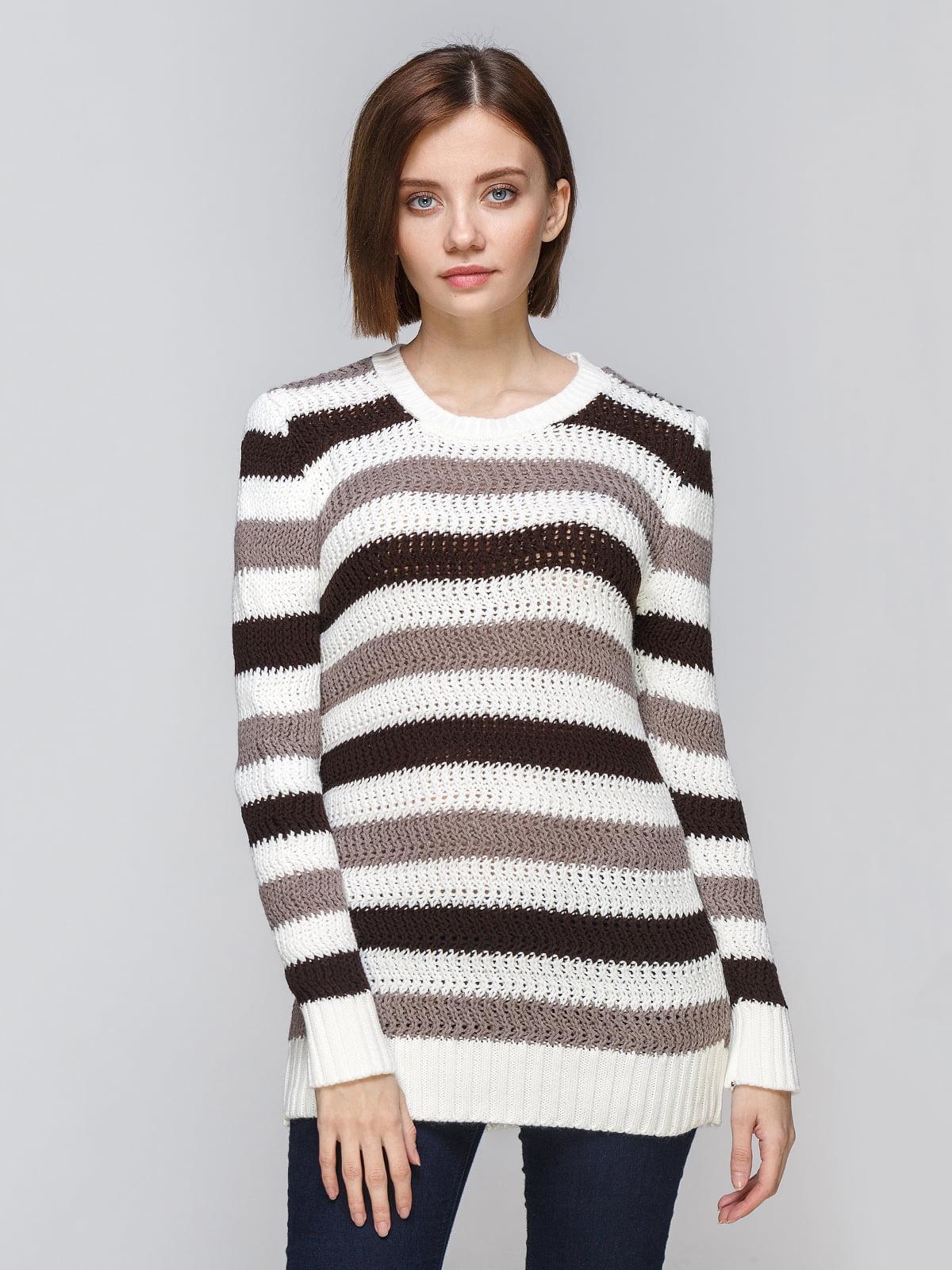 Туніка біло-коричнева | 5295833