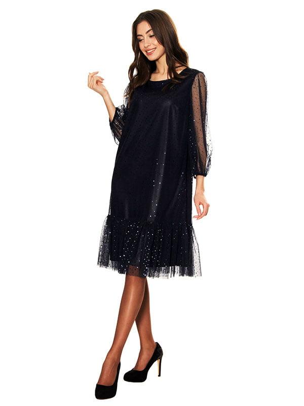 Платье черно-синее   5303444