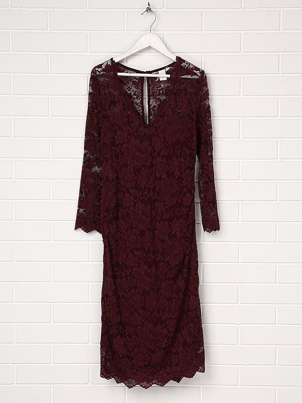 Платье для беременных темно-бордовое | 5304545