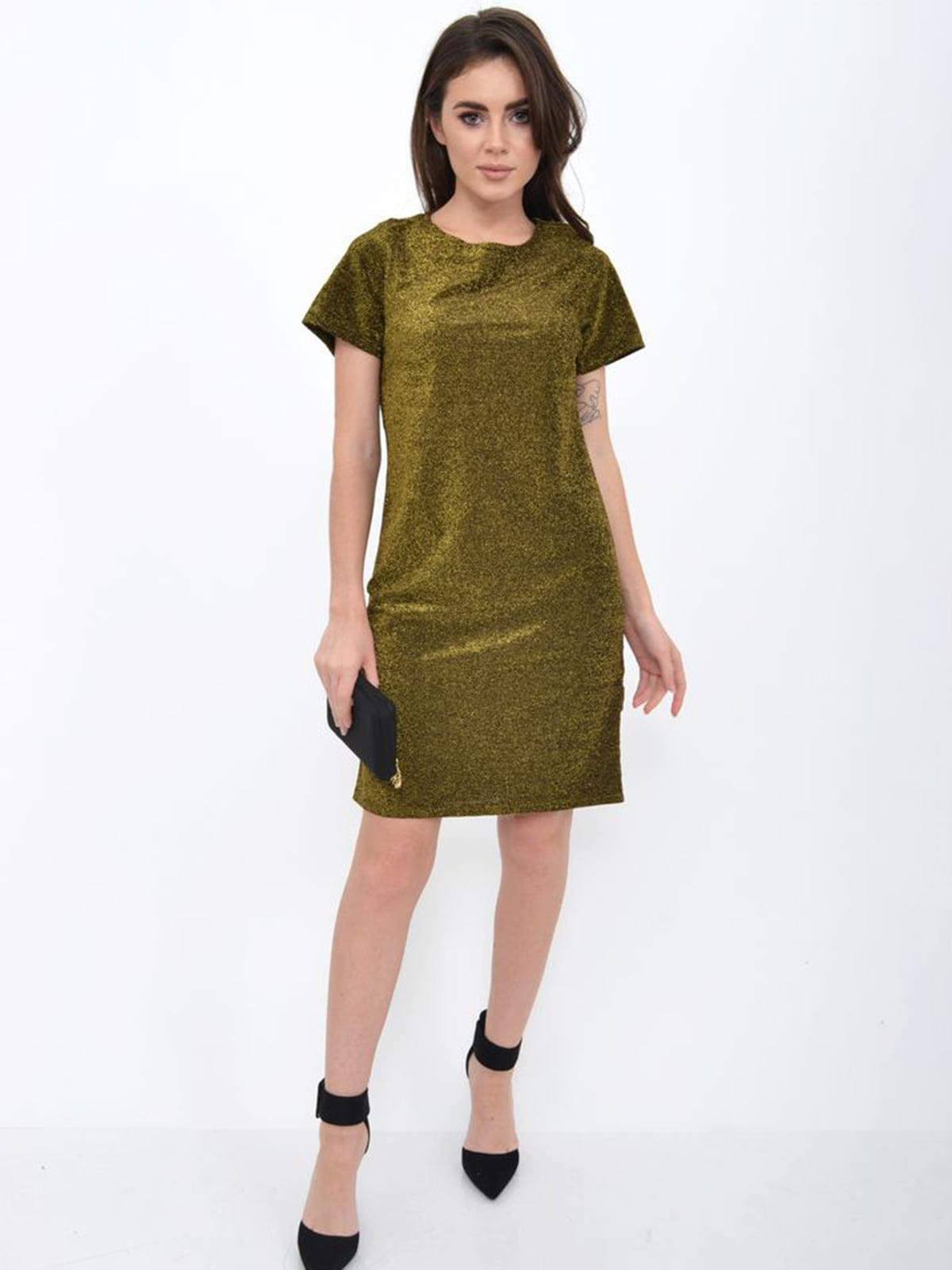 Платье золотистое | 5306278