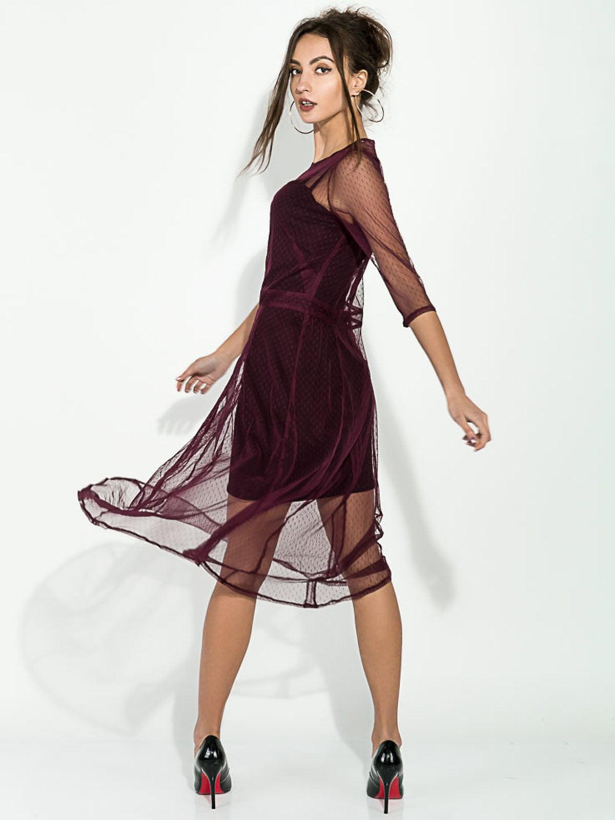 Платье цвета марсала | 5306295